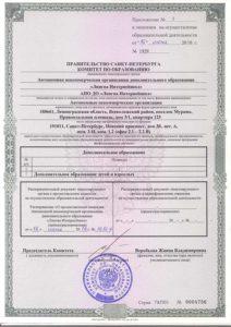 Приложение к лицензии АНО ДО Лингва Интернейшнл
